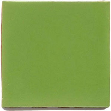 Lime green Mexican hand-made tile