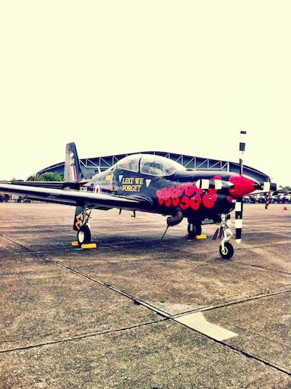 Plane at Duxford Airshow