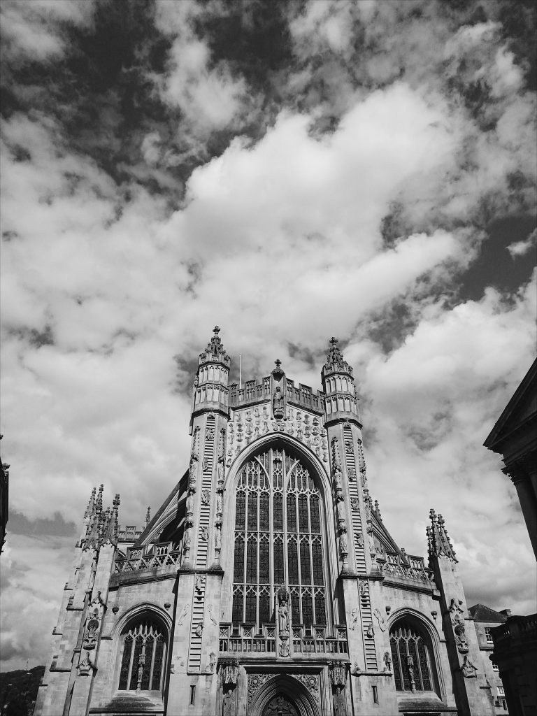 Bath Abbey - above the heads of tourists