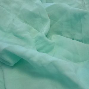 Bargain mint-green rayon