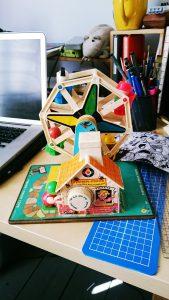 Fisher-Price wind-up Ferris wheel music box toy